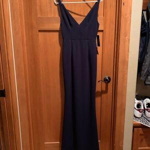 Melora Navy Blue Sleeveless Maxi Dress